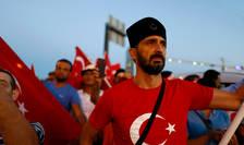 Susţinători ai preşedintelui Erdogan în Istanbul
