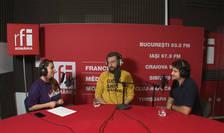 Andreea Pietroșel, Adi Bulboacă și Sorin Florea in studioul de inregistrari RFI Romania