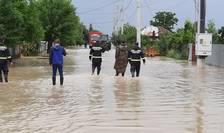Inundații în județul Vrancea (Sursa foto: Facebook/Prefectura Vrancea)