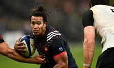 Aripa francezà Teddy Thomas, autor al unui eseu contra Noii Zeelande sâmbàtà 11 noiembrie 2017