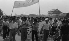 Piaţa Tiananmen, cu cîteva zile înainte de masacru.