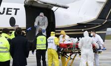 Un bolnav de Covid este transferat de la Paris spre Bordeaux, 14 martie 2021.
