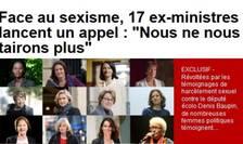 Apelul celor 17 foste înalte responsabile politice din Franta contra sexismului si a hàrtuirii sexuale publicat de Le Journal du Dimanche