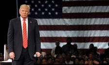 Donald Trump, candidat la candidatura republicanilor americani, pe 14 martie 2016 în miting în Florida