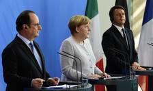 François Hollande, Angela Merkel si Matteo Renzi la o întâlnire, trei zile dupà votul pro-Brexit