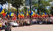 Proteste la Chişinău (Foto: RFI/Valeria Viţu)