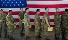 Fort Bragg, Carolina de nord; trupe americane se pregàtesc sà plece în Orientul mijlociu, 5 ianuarie 2020