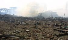 Uzina AZF din Toulouse la puțin timp dupa explozia din 21 septembrie 2001.