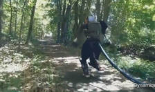 Robotul Atlas, în pădure