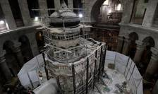 Lucrări de renovare a presupusului mormânt al lui Iisus (Foto: AFP/Gali Tibbon)