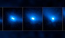 Perechea de asteroizi botezată 288P (Sursa foto: site misiunea Hubble)