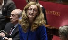 Nicole Belloubet, ministrul francez al Justitiei, în fata parlamentului de la Paris pe 14 noiembrie 2017