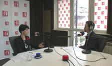Violeta Alexandru, în studioul RFI (arhivă)