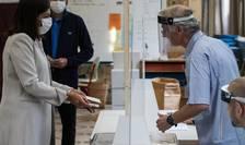 Anne Hidalgo, primàrita Parisului, votând pe 28 iunie la al doilea tur al localelor