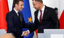 Preşedinţii Emmanuel Macron şi Andrzej Duda, 3 februarie 2020, Varşovia.