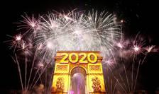 Focuri de artificii de Anul Nou la Paris