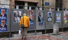 Panouri cu candidaturi la municipale, Perpignan, 9 martie 2020.