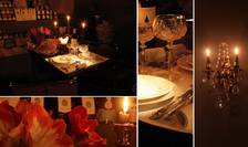 Cadru romantic pentru restaurantul cu o singura masa, Bruxelles