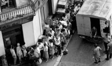 Coadă la pâine, în timpul comunismului