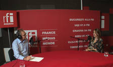 Constantin Rudniţchi și Corina Mîndoiu in studioul RFI Romania