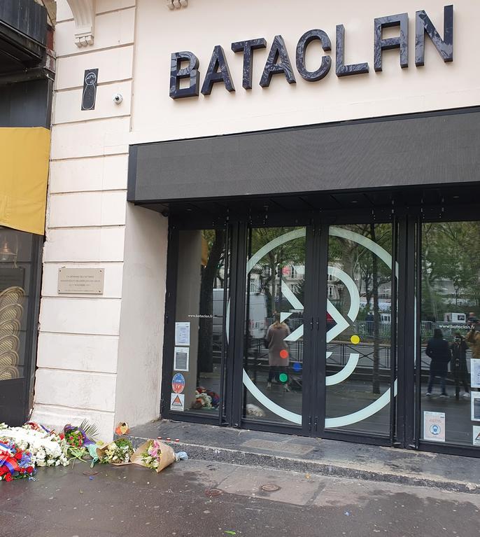 Intrarea în sala Bataclan, 13 noiembrie 2020.