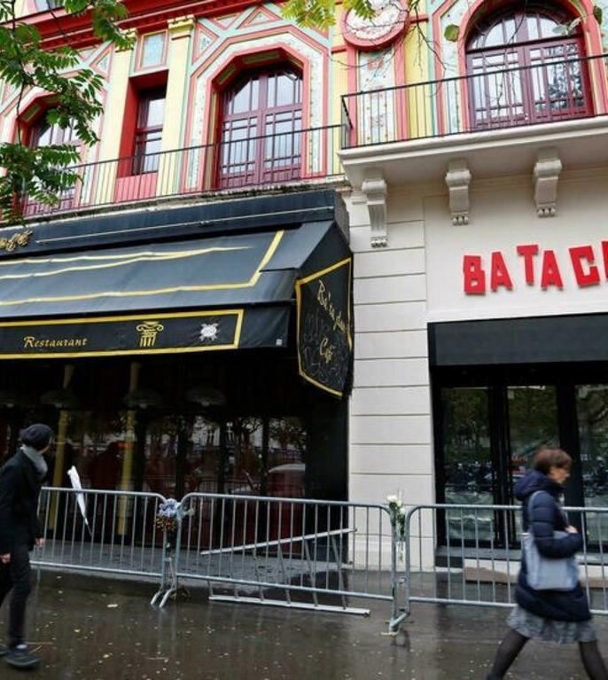 Sala Bataclan, un an dupà atentatul jihadist care a fàcut 90 de morti în rândul spectatorilor veniti la concertul grupului Eagles of Death Metal; 8 noiembrie 2016.