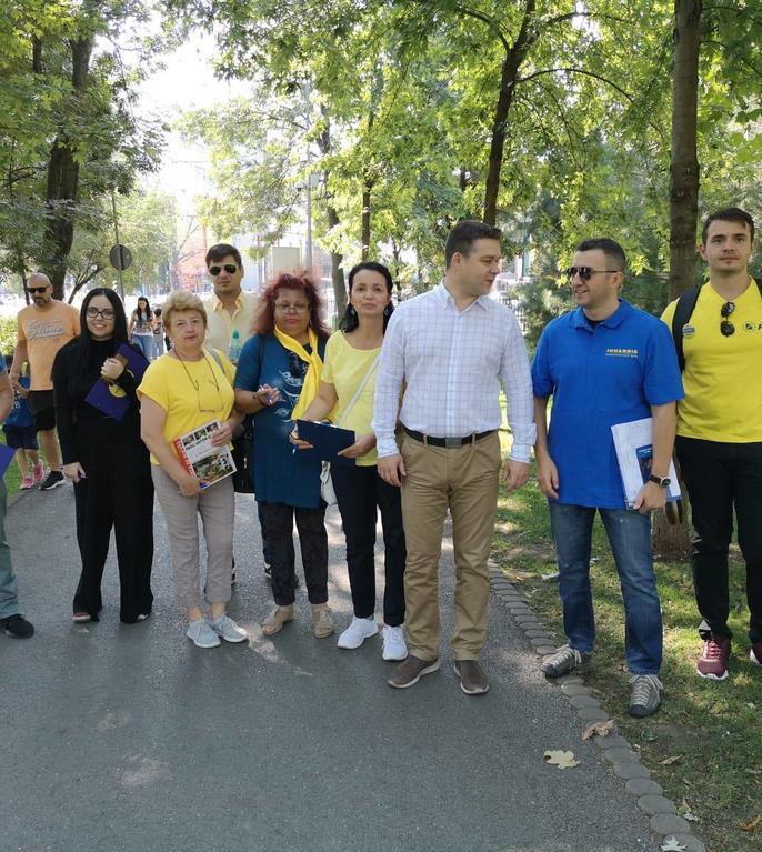 Ciprian Ciucu vrea să extindă spațiile verzi din Sectorul 6 (Sursa foto: Facebook/Ciprian Ciucu)