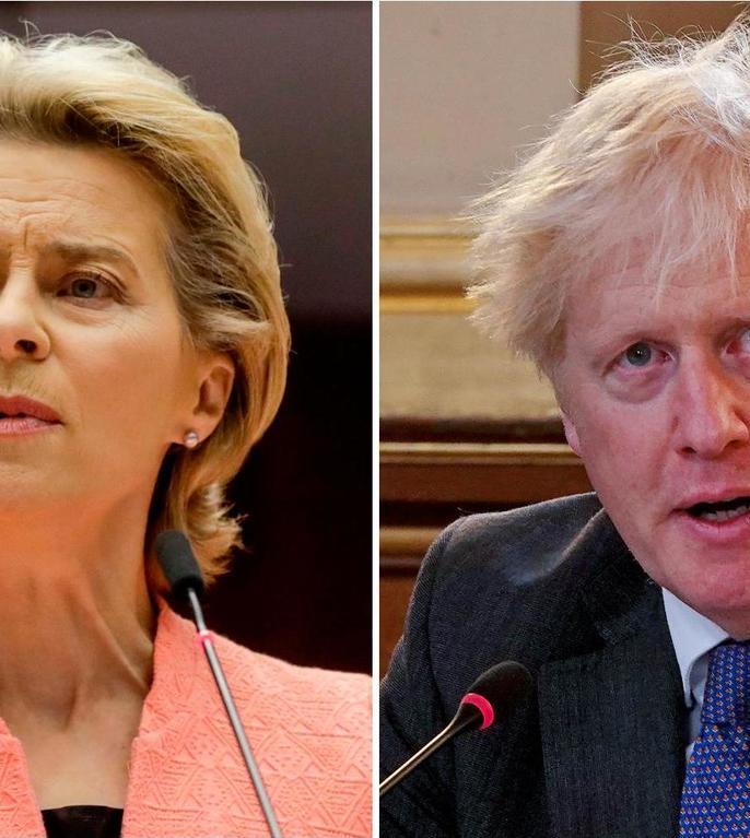 Ursula von der Leyen și Boris Johnson