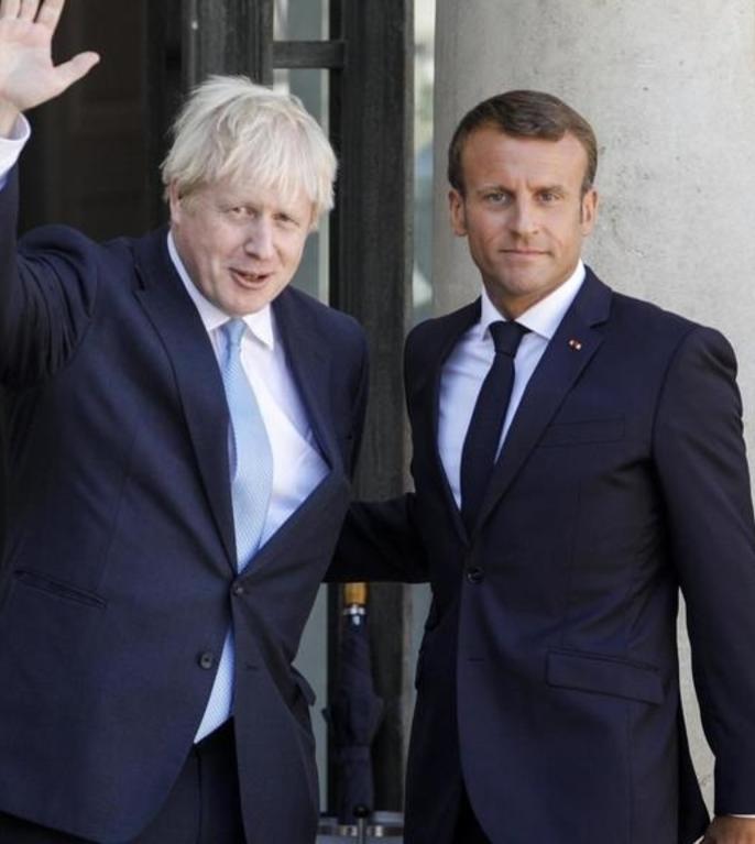 Premierul britanic Boris Johnson primit la Palatul Elysée de preşedintele Emmanuel Macron în august 2019