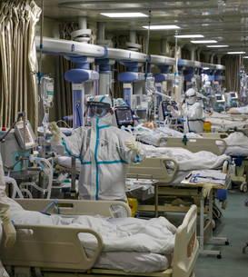 Salon pentru îngrijirea pacienților cu COVID în Wuhan