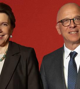 Doamna Michelle Ramis, ambasadoarea Franței și domnul Cord Meier-Klodt, ambassador al Germaniei