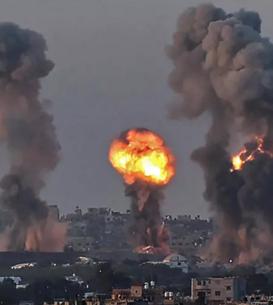 12 mai 2021, bombardamente israeliene în Gaza.