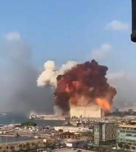 Explozii la Beirut (Sursa foto: captură Twitter via Digi24)