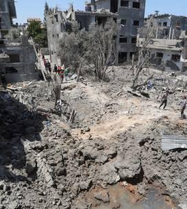 În nordul Fâsiei Gaza, 14 mai 2021.