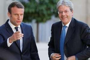 Presedintele francez Emmanuel Macron si seful guvernului italian Paolo Gentiloni.