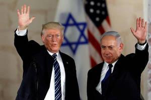 Preşedintele american Donald Trump şi primul ministru israelian Benjamin Netanyahu în cursul unei precedente întîlniri.