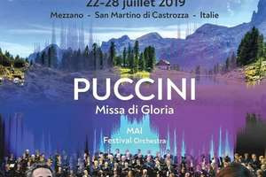 Afisul Festivalului coral International Dolomiti pe care-l va conduce dirijorul Christian Ciucà