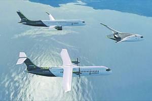 Cele trei concepte de avioane cu hidrogen prezentate de Airbus.