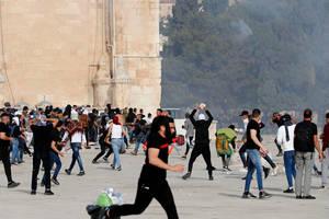 Tensiuni pe esplanada moscheelor, Ierusalim, 10 mai 2021