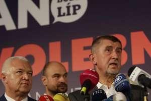 Andrej Babis, liderul partidului ANO, pe 21 octombrie la Praga în cursul unei conferinte de presà dupà terminarea scrutinului