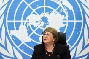 Michelle Bachelet, Inalta Comisarà ONU pentru Drepturile omului, la Geneva, decembrie 2020.
