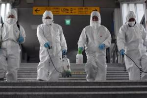 Dezinfecţie la Seul, Coreea de Sud, martie 2020