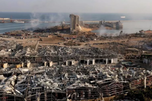 Beirut, zona portuară, după explozia de pe 4 august 2020