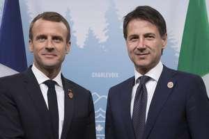 Emmanuel Macron si Giuseppe Conte la summitul G7 de la Malbaie, Canada, iunie 2018