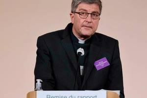 Presedintele Conferintei episcopilor francezi, Eric de Moulins-Beaufort, 5 octombrie 2021, la Paris.