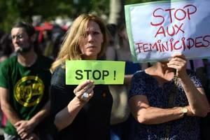 Manifestatie contra feminicidelor, Paris, 6 iulie 2019.