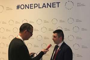 """Ion Cîmpeanu, secretar de stat în Ministerul mediului, interviuvat de Vasile Damian la """"One Planet Summit"""", 12 decembrie 2017"""