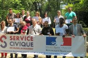 Voluntari în sudul Frantei pentru un nou serviciu civic.