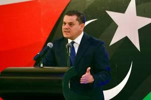 Primi-ministrul interimar libian Abdel Hamid Dbeibah, 25 februarie 2021, Tripoli.