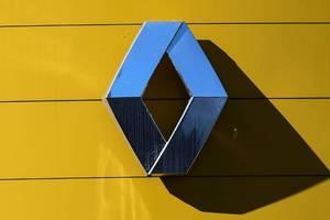 Logo-ul fabricantului de autoturisme Renault, fotografiat în Boulogne Billancourt, lânga París, 29 mai 2020.